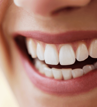 Closeup of smile after dental implant tooth replacement